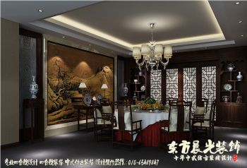 古典雅致中式饭店设计