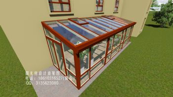 庭院单坡阳光房设计效果图欧式风格别墅