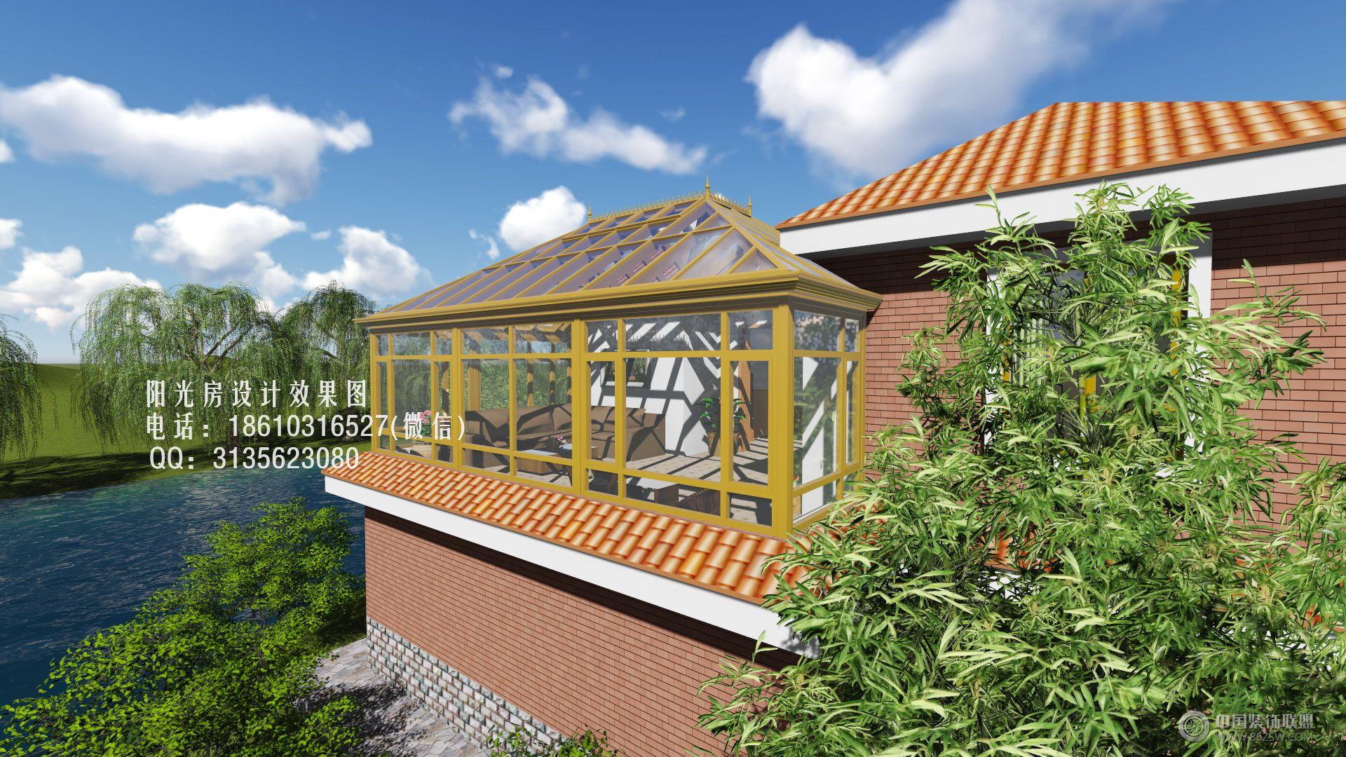 别墅阳光房设计效果图