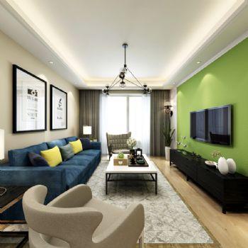 南京朗诗未来街区装修案例现代风格三居室