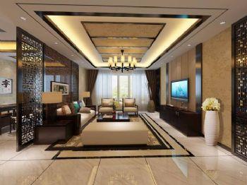 优雅中式风格三居设计图