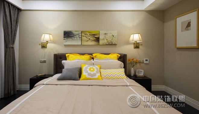 美式摩登公寓裝修效果圖-臥室裝修圖片