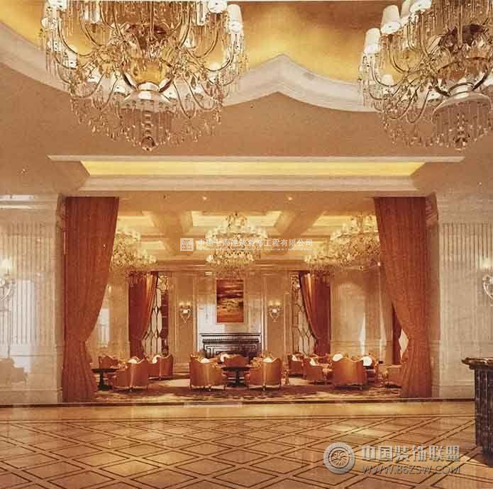 奢华绽放的欧式售楼中心——唐山国际都会售楼部装修