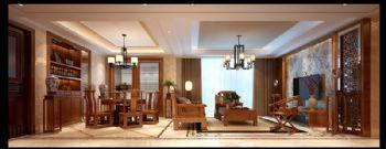 南京大华香鸢美颂装修效果图中式风格大户型