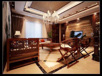 南京融侨观邸联排别墅装修中式风格别墅