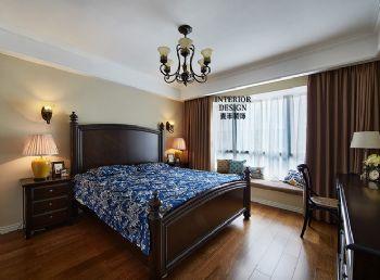 简约美式样板房装修案例欣赏-卧室装修图片