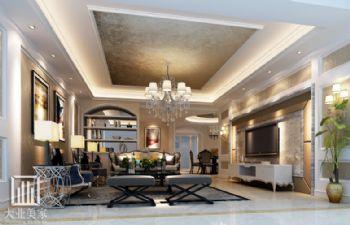 南京别墅大宅设计案例雅居乐花园欧式风格大户型
