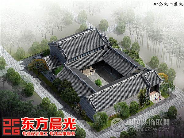 古建筑设计效果图 类型:家装风格:古典风格