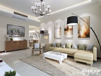 现代简约三居装修设计图