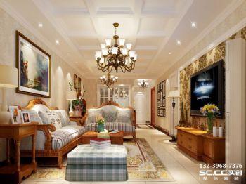 兰州实创装修装饰瑞南紫郡123㎡美式美式风格二居室