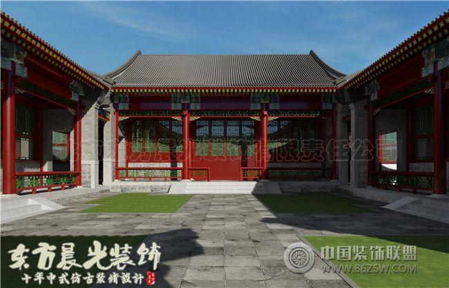 四合院古建筑设计装修壮丽秀美-客厅装修图片
