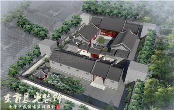 四合院古建筑设计装修壮丽秀美中式风格别墅
