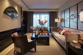 永威五月花城E1户型175平方四室两厅新中式装修效果图中式风格三居室