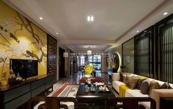 风雅天成-鑫苑鑫城138平方新中式风格装修案例欣赏现代风格三居室