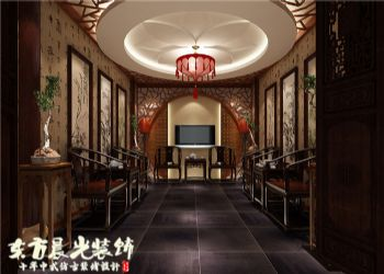 簡約中式家裝四合院室內設計方案中式風格別墅