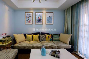 简美清新风迎宾路三号89平方两室两厅室内效果图案例赏析现代简约风格小户型