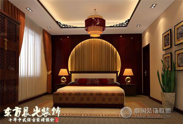 中式家装设计四合院装修-卧室装修效果图-八六(中国)