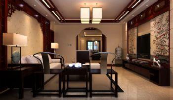 128㎡现代中式样板房设计案例