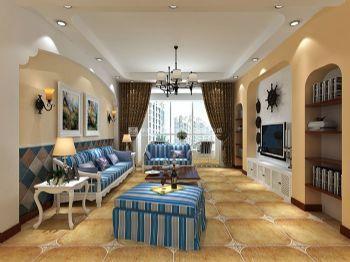 盛润锦绣城116平方三室两厅地中海风格装修效果图地中海风格小户型
