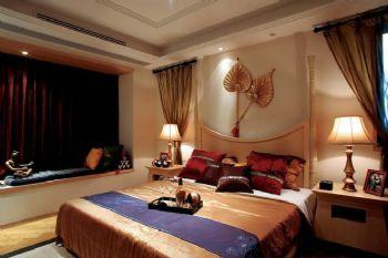 東南亞風格大戶型設計案例東南亞臥室裝修圖片