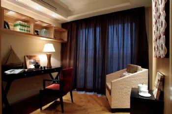 東南亞風格大戶型設計案例東南亞書房裝修圖片