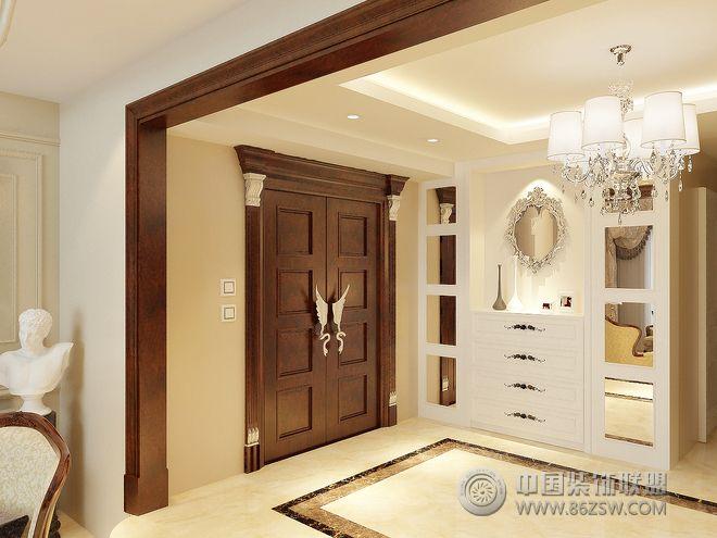 简欧别墅设计案例欣赏-玄关装修效果图-八六(中国)