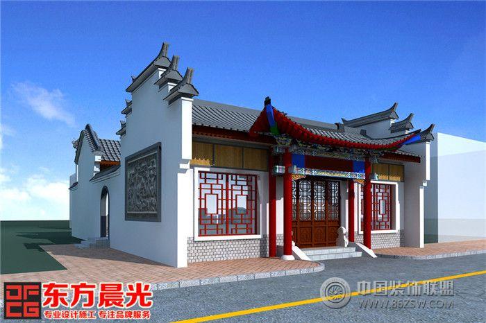 北京仿古门头设计效果图 单张展示 会所装修效果图 八六 中国 装饰联盟