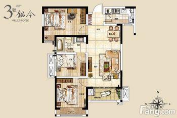迎宾路三号96平方三室两厅时尚简约效果赏析现代风格三居室