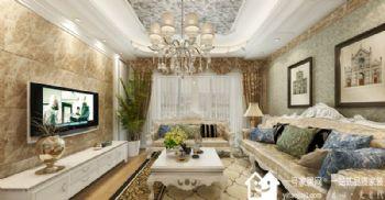 南京雅居乐滨江国际135平方装修案例-南京一号家居网东南亚风格三居室