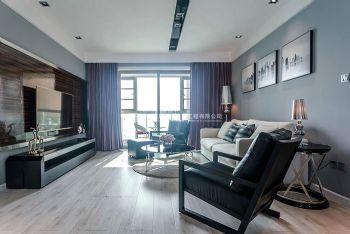 东方鼎盛御府89平方两室两厅现代简约效果图现代风格二居室