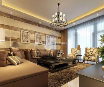 时尚大气现代化的鑫苑鑫城86平方三室两厅设计效果图现代风格小户型