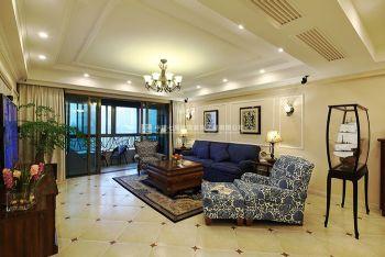美式风格暖色调东方鼎盛御府三居室装修案例赏析美式风格三居室