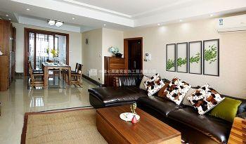 迎宾路三号114平三居室新中式简约风设计案例简约风格二居室