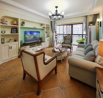 美式田园风东方鼎盛御府129平三居室装修效果图美式风格三居室