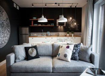一室一厅效果装修案列现代简约风格小户型