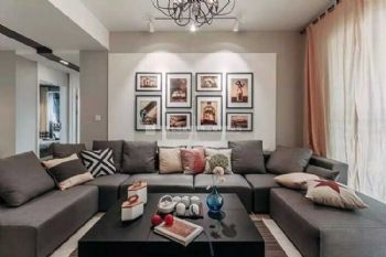 品味情调生活——130平三室两厅现代简约混搭小资家现代风格三居室