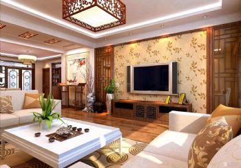 广厦天都城爵士花园新中式温暖装修效果图中式风格三居室