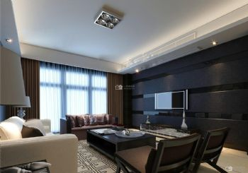 现代简约101平米三房二厅一卫温暖装修效果图现代风格三居室