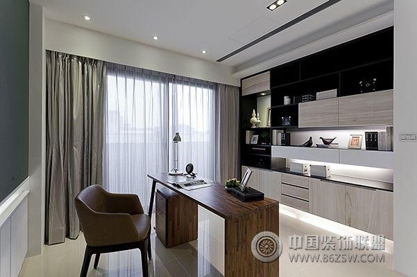 顶级豪宅设计案例欣赏-书房装修效果图-八六(中国)