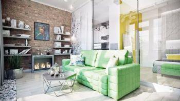 撞色小户型公寓设计案例