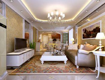 154平米欧式三居装修案例