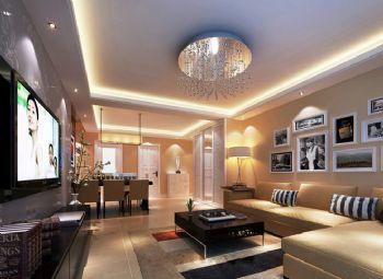 120平米现代简约三居设计案例