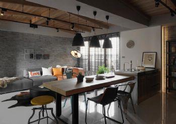 现代工业风二居装修效果图现代餐厅装修图片