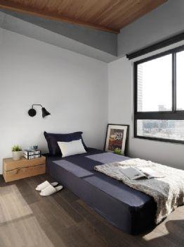 现代工业风二居装修效果图现代卧室装修图片