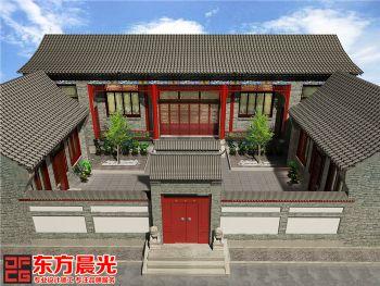 四合院中式设计高端之作中式风格别墅