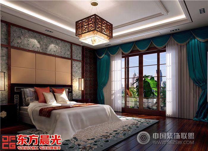 四合院中式设计高端之作-卧室装修图片