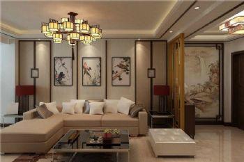 现代中式三居设计图