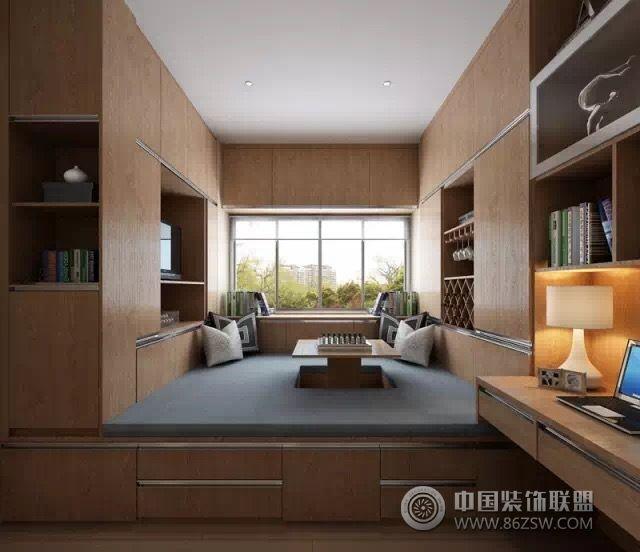 2016年最新榻榻米设计图-书房装修效果图-八六(中国)