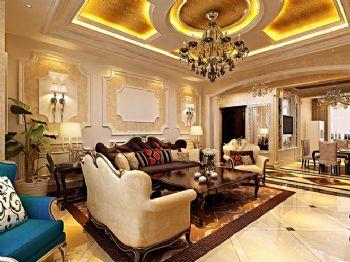 奢华欧式风格四居设计案例