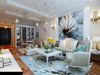 典雅简欧风格二居设计案例